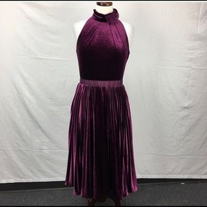 Ted Baker Cornela Midi Dress Purple Size 2